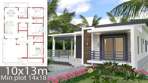 Sketchup Home Design Plan 10x13m with 3 Bedrooms YouTube