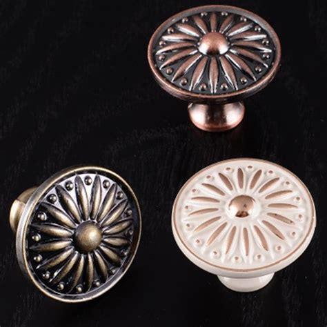 pcs vintage flower patterns metal  knob single hole