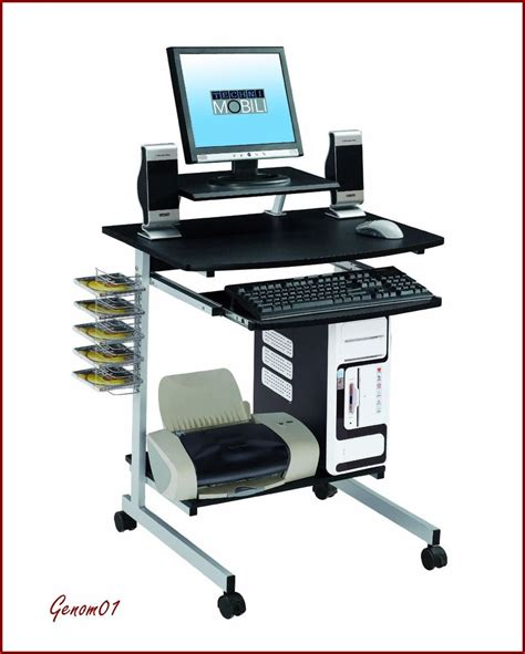 home office desk on wheels mobile student computer desk with wheels modern home pc