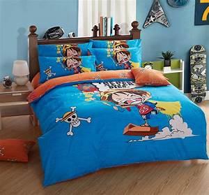 Housse De Couette 3d : 100 cotton one piece anime bedding sets 3d duvet cover ~ Dailycaller-alerts.com Idées de Décoration