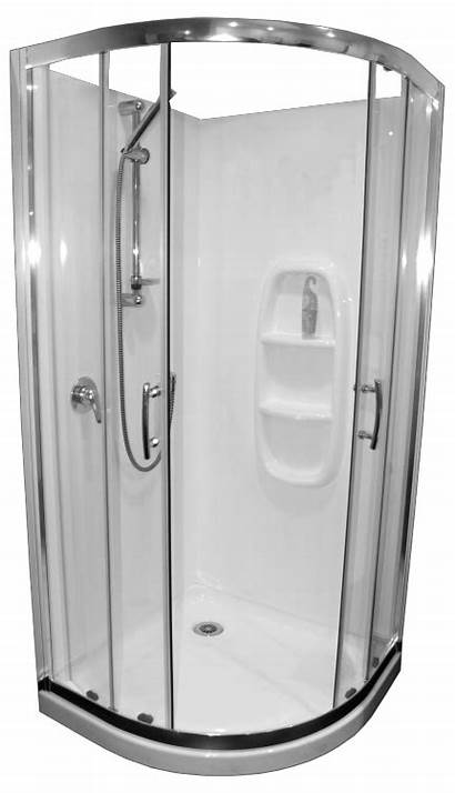 Curved Shower Cubicle Collesium Moulded 1000 Sizes