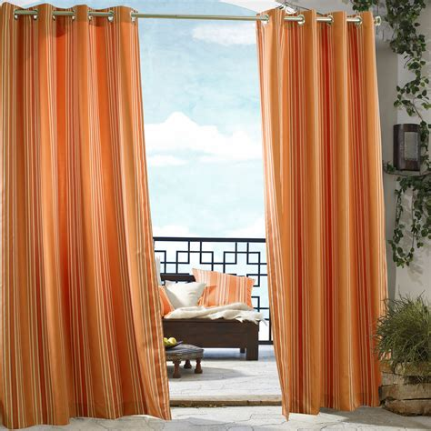 outdoor decor gazebo stripe grommet outdoor curtain panel