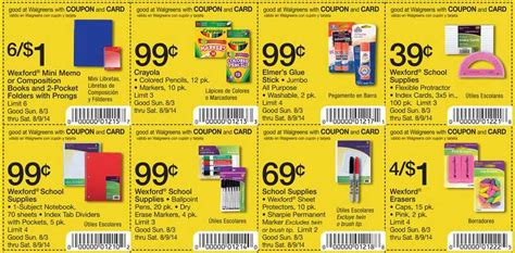 Walgreens Decorations 2017 by Walgreens School Supplies Coupons 8 3