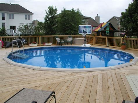 above ground swimming pools with decks above ground pool decks this above ground pool deck goes al