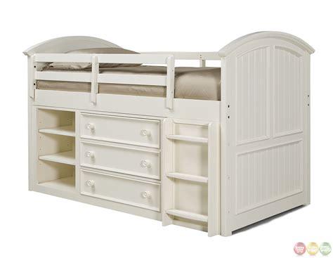 cottage loft bed summer simple white cottage mid loft bed