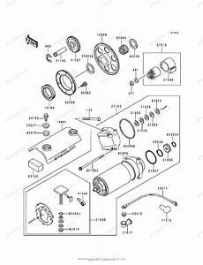 Kawasaki Motorcycle 2000 Oem Parts Diagram For Starter