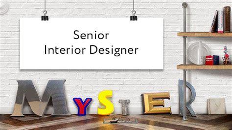 Senior Interior Designer Wanted