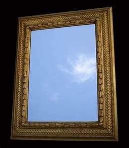 Miroir Doré Ancien : miroir ancien a encadrement dor de style moderne ~ Teatrodelosmanantiales.com Idées de Décoration