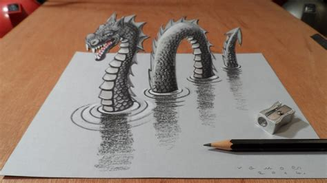drawing  loch ness monster long version youtube