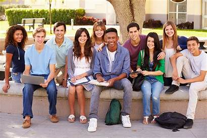 Students College Smiling Outside