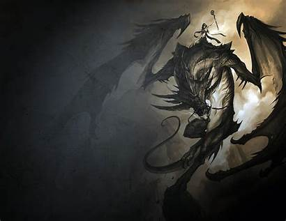Mythical Creatures Dragon Dragons Fantasy Background Dark