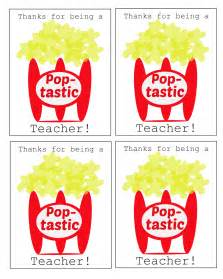 Popcorn Teacher Appreciation Gift