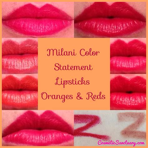 milani color statement lipsticks reds oranges
