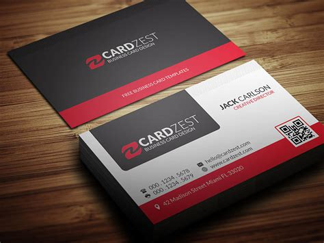 modern professional business card template cardzest