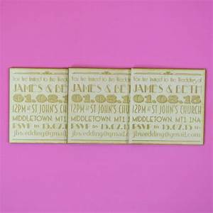 laser cut wedding invitations magnet personalised with With magnet wedding invitations uk