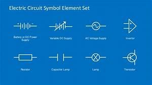 Electric Circuit Symbols Element Set For Powerpoint