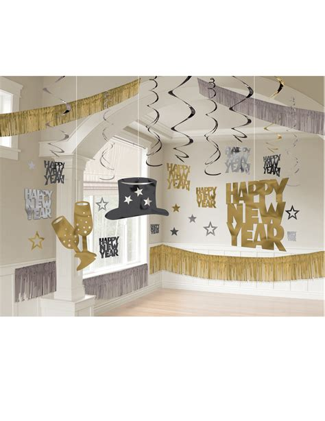 deko gold silber happy new year deko set schwarz gold silber partydeko und g 252 nstige faschingskost 252 me vegaoo