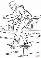 Skateboard Coloring Drawings Drawing Printable Skateboarder Balancing Colouring Skate Skateboarding Colorings Getdrawings Template 81kb 1060 1500px Categories sketch template