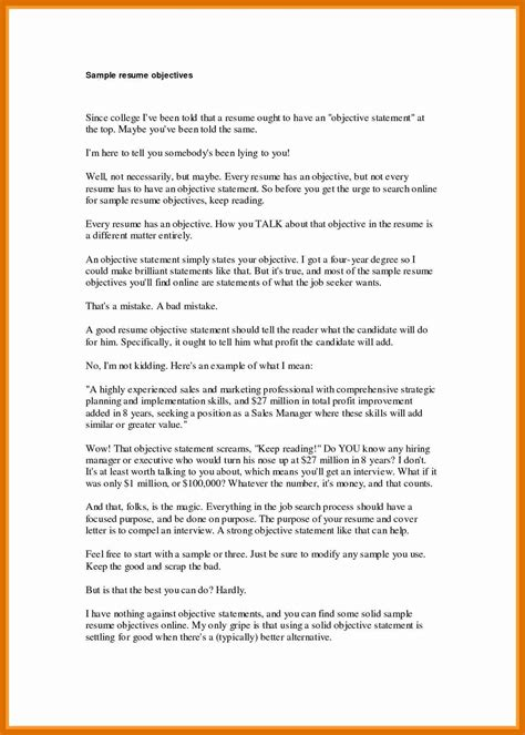Resume Objective Statements by 2 3 Strong Objective Statements For Resume Formatmemo