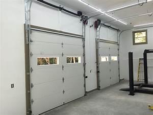 Custom Vertical High Lift With Liftmaster Jackshaft Opener