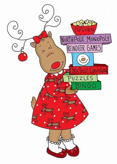 Reindeer Games Christmas Clipart Digi Stamps Dearie