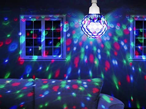 ion audio 7 quot motorized spinning disco light projection bulb with built in led