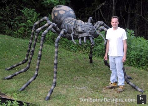 large foam spider prop for halloween or events tom spina