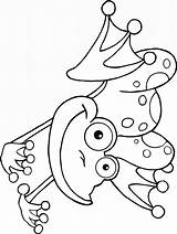 Frog Coloring Pages Printable Birthday sketch template