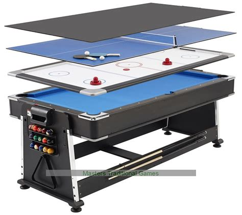 3 in one game table 7ft 3 in 1 revolver pool air hockey table tennis table