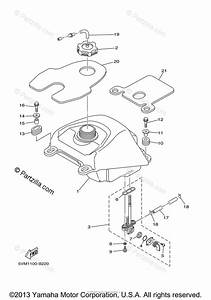 Yamaha Atv 2004 Oem Parts Diagram For Fuel Tank