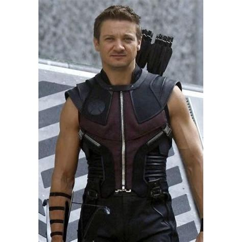 Buy The Avengers Hawkeye Jeremy Renner Leather Vest Sale