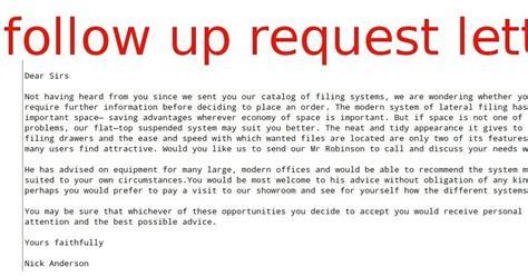follow  request letter samples business letters