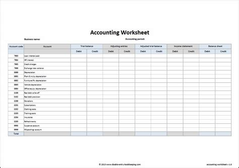accounting worksheet excel template 9 accounting excel templates excel templates