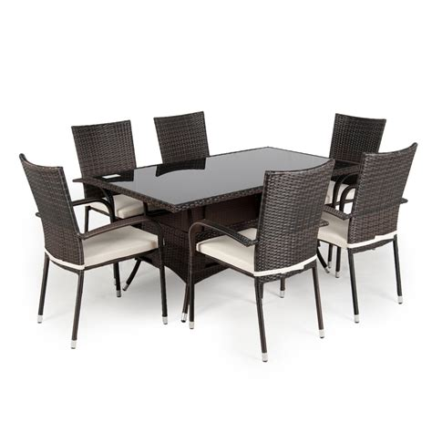 rattan garden furniture dining sets rattan and wicker