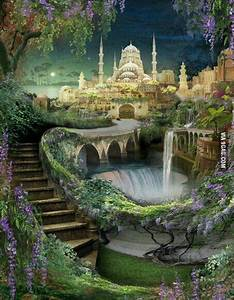 Hanging gardens of Babylon. 1 of 7 wonders of ancient ...