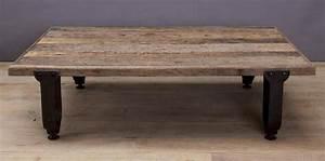 Gran mesa centro industrial madera y hierro vilmupa