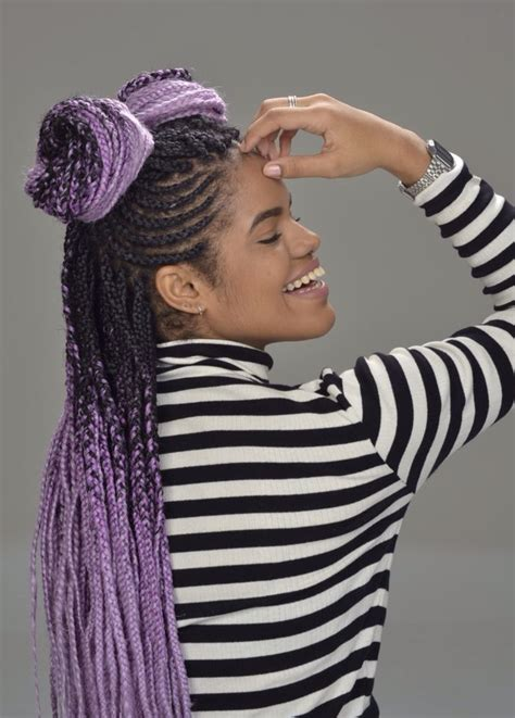 Best 25 Purple Braids Ideas On Pinterest Braid Of Afro