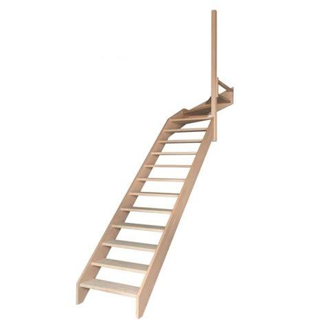 Escalier Quart Tournant Haut Escalier 1 4 Tournant Haut Sans Contremarches Sans Re Escaliers D2bois Fr