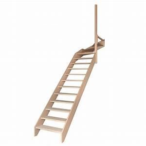 Escalier 1 4 Tournant Gauche : escalier 1 4 tournant haut sans contremarches sans rampe escaliers ~ Dode.kayakingforconservation.com Idées de Décoration