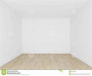White Wall And Wood Floor ,empty Room,3d Interior Stock ...
