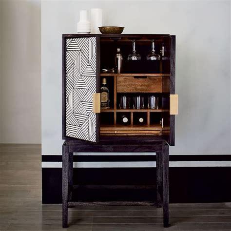 west elm flat bar storage desk bone inlaid bar cabinet west elm