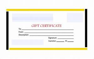 Blank Gift Certificate Template – 13+ Free Word, PDF ...