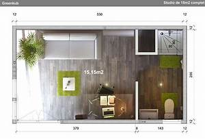Amenager Studio 15m2 : studio de jardin 15m eco brique greenkub gk15 ~ Melissatoandfro.com Idées de Décoration