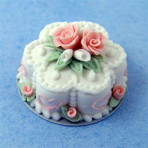 pink white flower cake stewart dollhouse creations
