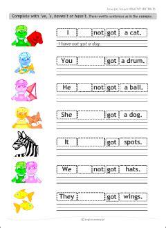verb   grammar worksheets  kids learning english