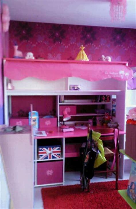 lit combine bureau fille troc echange lit fille combiné lit bureau armoire