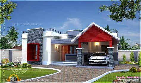 one floor house single floor home plan in 1400 square indian house plans