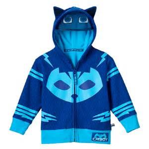 Toddler Boy PJ Masks Catboy Fleece-Lined Zip-Up Mask Hoodie, Size: 4T, Blue
