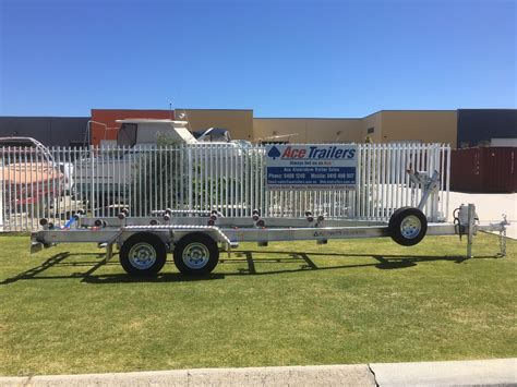 Tandem Aluminum Boat Trailer by Tandem Axle Aluminium Boat Trailer With Wobble Roller Set