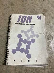 2003 Saturn Ion Service Manual Quick Reference Guide